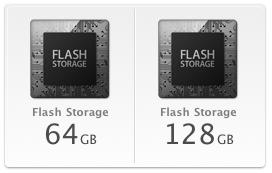 Sihirli elma MacBook Air Flash Storage