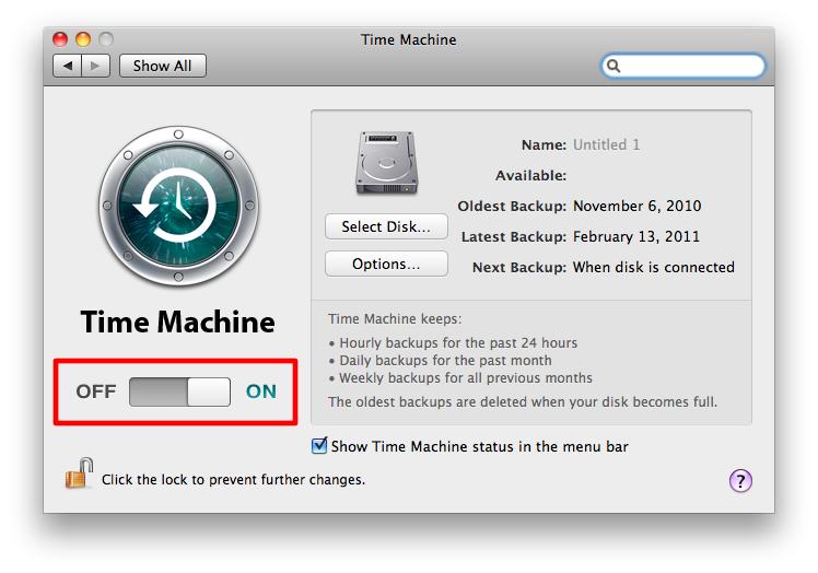 Sihirli elma time machine yedeklemek 4c