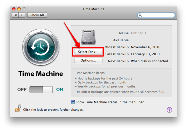 Sihirli elma time machine yedeklemek 5a