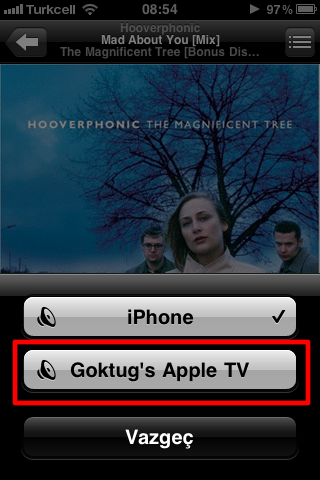 Sihirli elma apple tv airplay iPhone 2a