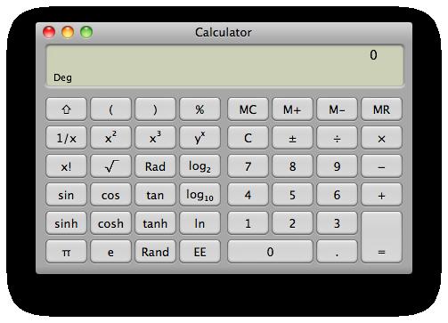 Sihirli elma hesap makinesi calculator 4 scientific
