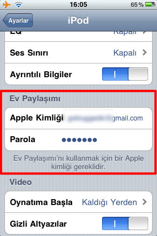 Sihirli elma itunes home sharing iPhone 2b