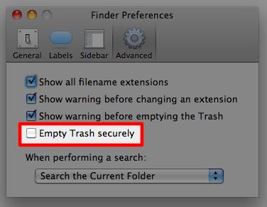 Sihirli elma secure empty trash 3