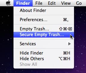 Sihirli elma secure empty trash 4