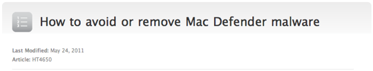 Mac defender apple support