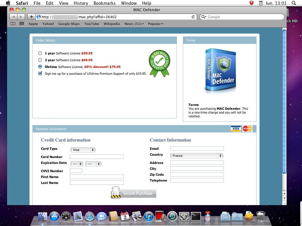 Mac defender web page