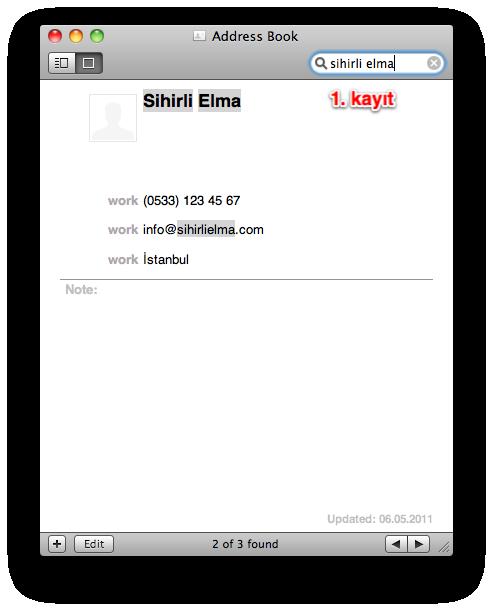 Sihirli elma adres defteri cift kayit 3a