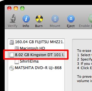 Sihirli elma disk format bicimlendirmek 1