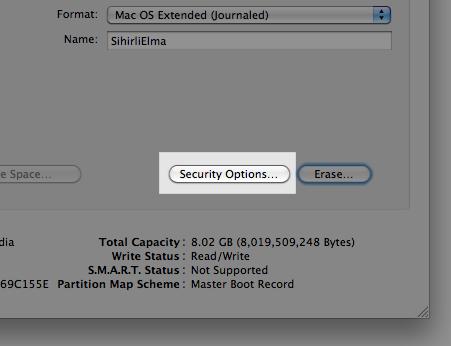 Sihirli elma disk format bicimlendirmek 5