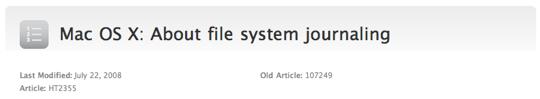 Sihirli elma disk format file system journaling