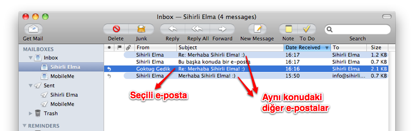 Sihirli elma mail app 11a