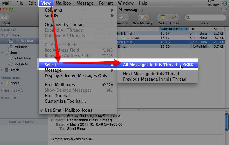 Sihirli elma mail app 12a