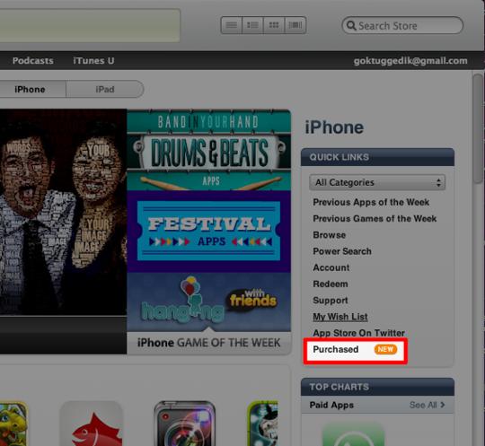 Sihirli elma iTunes 10 3 purchased