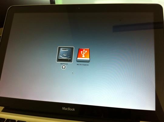 Sihirli elma snow leopard install disk usb boot 1