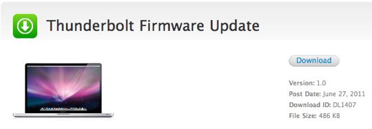 Sihirli elma thunderbolt firmware update 2