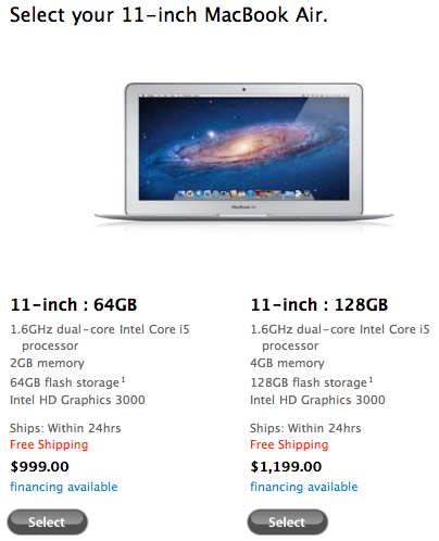 Sihirli elma yeni macbook air 11 inc