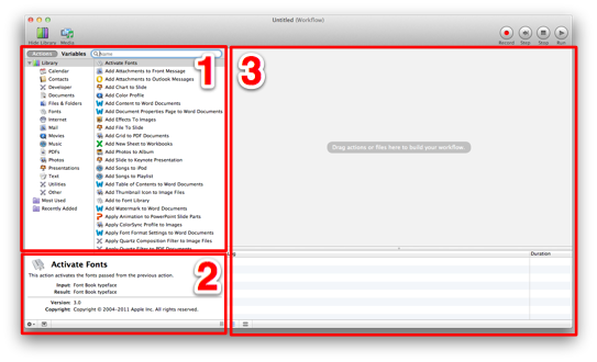Sihirli elma automator 2 actions all