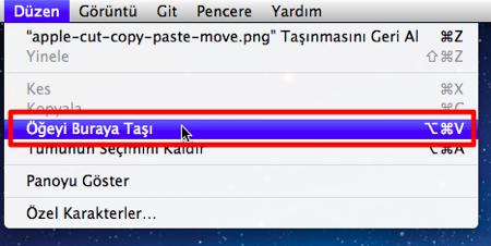 Apple cut copy paste move 3