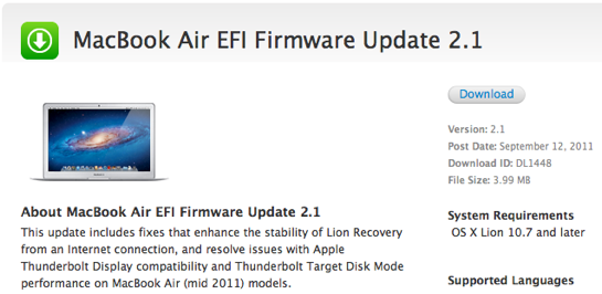 Sihirli elma macbook air efi 2 1