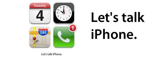 Sihirli elma lets talk iphone banner