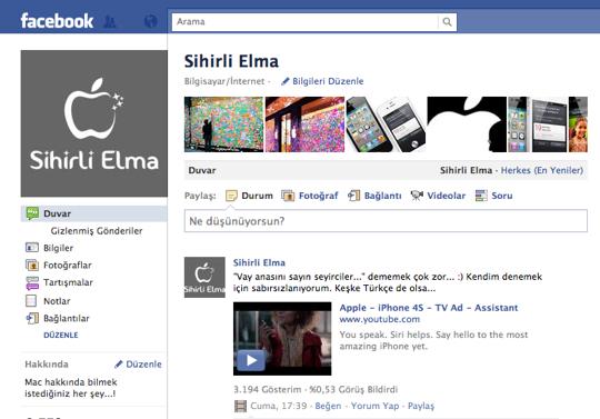 Sihirli elma logo facebook