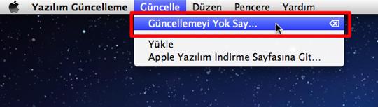 Sihirli elma guncelleme yok say 2a