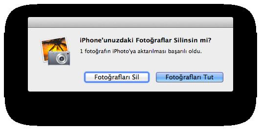 Sihirli elma iphone mac fotograf aktarmak 10