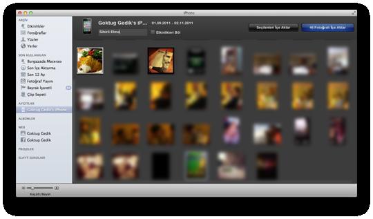 Sihirli elma iphone mac fotograf aktarmak 6