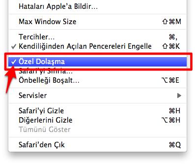 Sihirli elma ozel dolasma private browsing 4a
