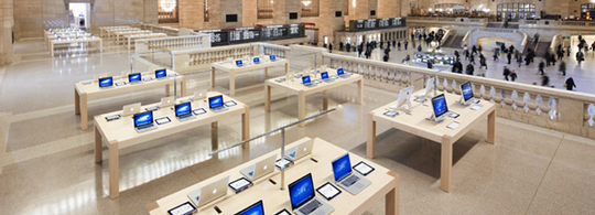 Apple store grand central station banner