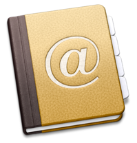 Sihirli elma adres defteri address book logo