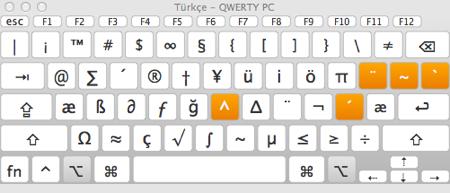 Sihirli elma ozel karakter klavye goruntuleyici 3 alt