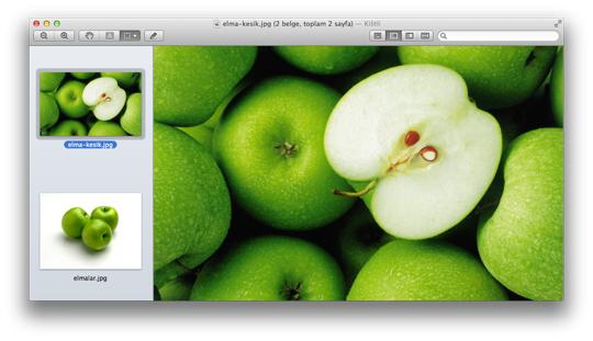 Sihirli elma mac fotograf boyut kucultmek 10