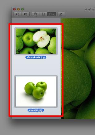 Sihirli elma mac fotograf boyut kucultmek 11