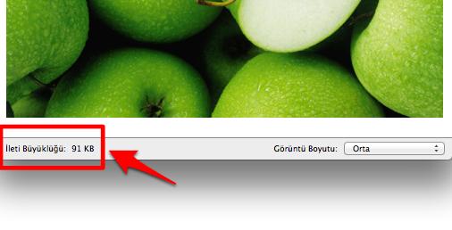 Sihirli elma mac fotograf boyut kucultmek 9