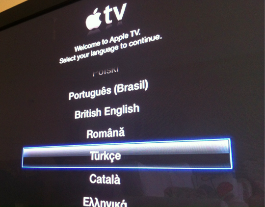 Sihirli elma apple tv arayuz turkce