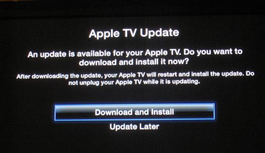 Sihirli elma apple tv update 1a