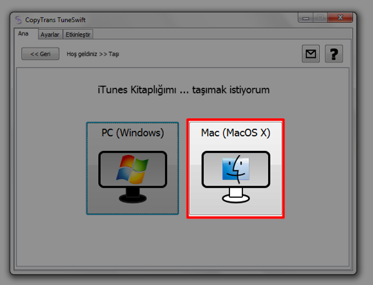 Pc mac itunes tasimak arsiv kitaplik 7