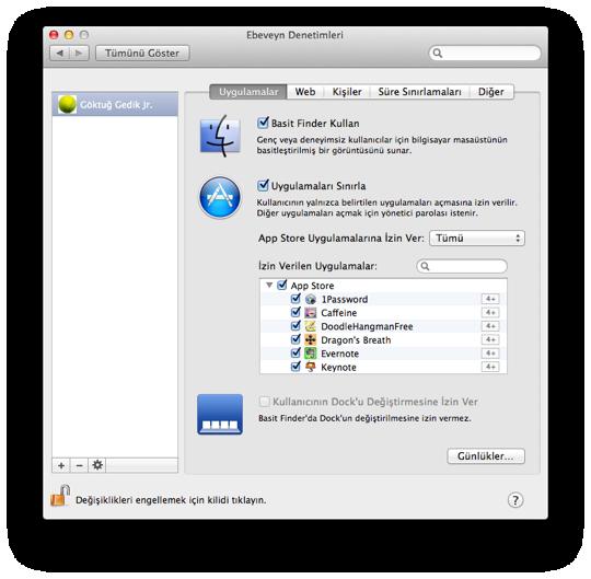 Sihirli elma mac101 ebeveyn denetimleri 4 uygulamalar 3