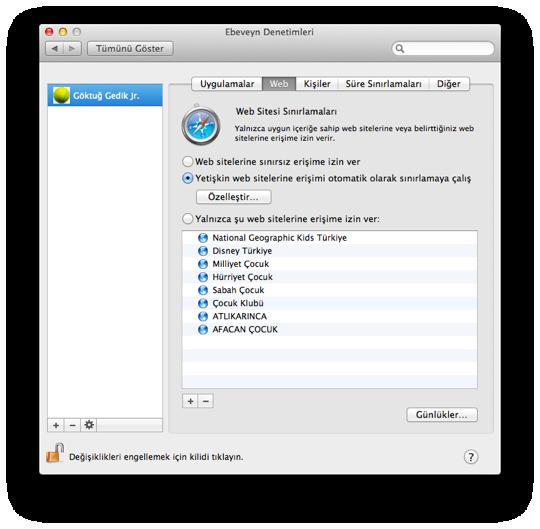 Sihirli elma mac101 ebeveyn denetimleri 5 web 1