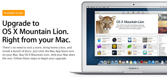 Sihirli elma os x 10 8 mountain lion 6 upgrade yukseltme