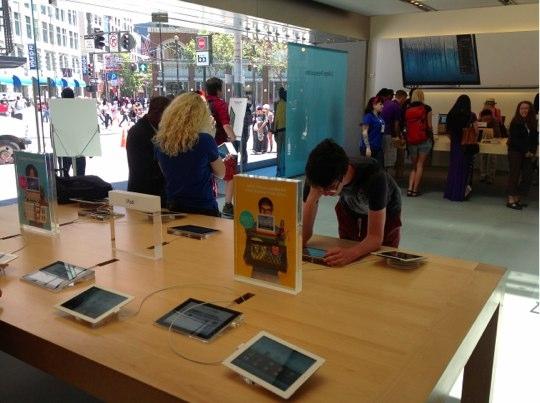 Sihirli elma apple store deneyimi iPad2