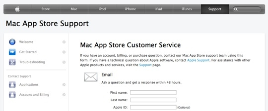 Sihirli elma mountain lion mac app store geri odeme refund 1