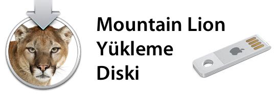 Sihirli elma mountain lion yukleme disk usb bellek banner