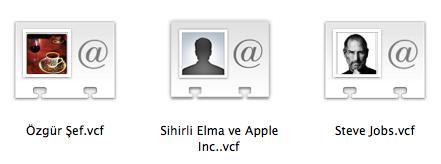 Sihirli elma kisiler adres defteri disa aktar export csv 4
