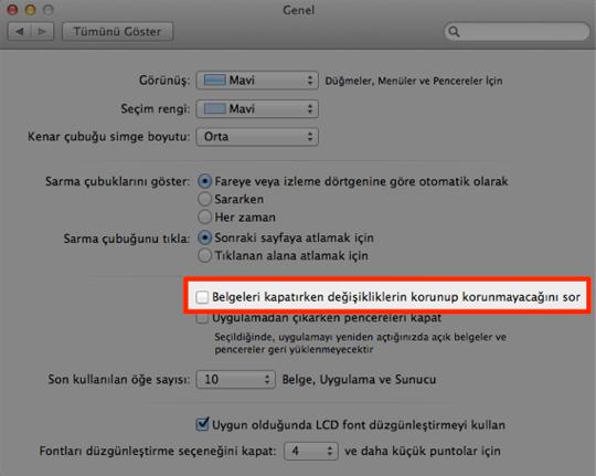 Sihirli elma mac belge dosya degisiklik otomatik kaydet 6