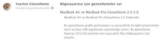 Sihirli elma macbook air pro guncelleme 2 0 1