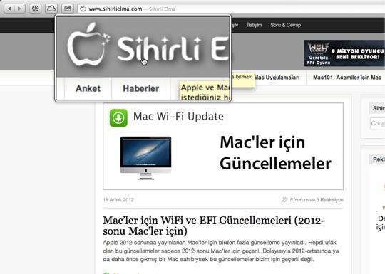 Sihirli elma mac ekran buyutmek yakinlasmak zoom 10
