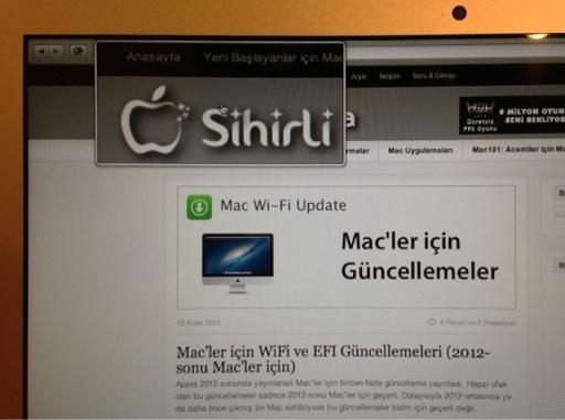 Sihirli elma mac ekran buyutmek yakinlasmak zoom 12