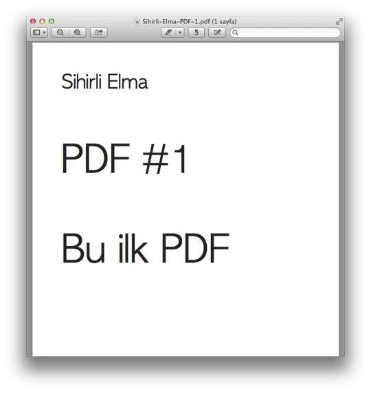 Sihirli elma PDF birlestirmek 2